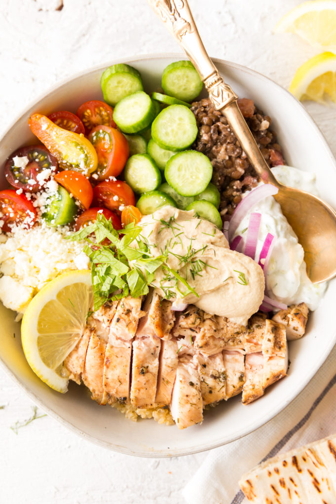 Greek Chicken Power bowl