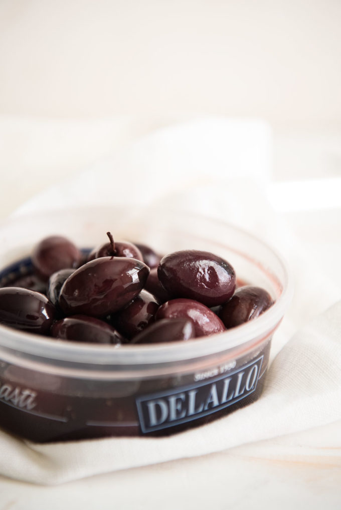 Delallo kalamata olives, greek salad