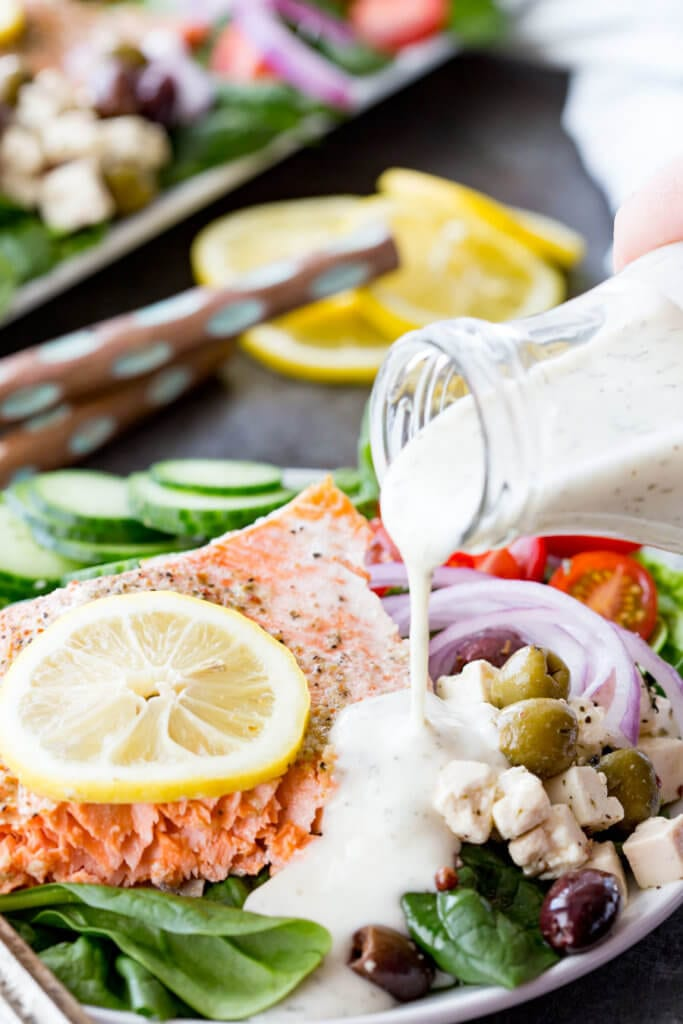 Greek Salmon Salad is a fantastic meal that is easy to make