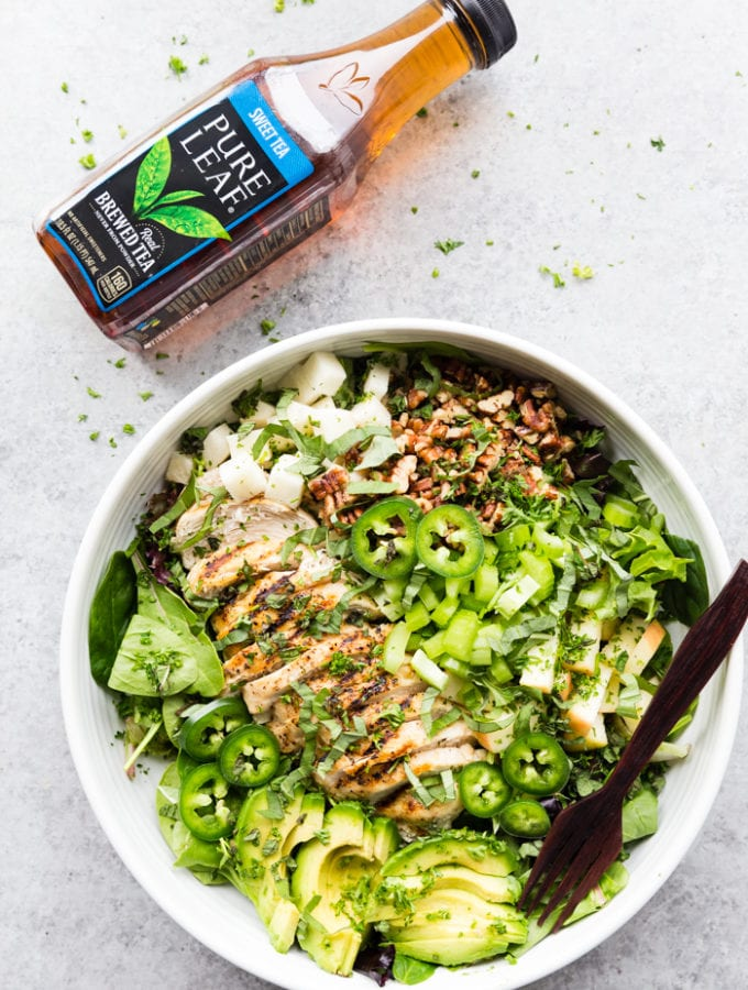 Grilled Chicken Salad with Sweet Tea Infused Dressing
