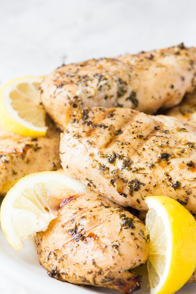 Grilled Greek Chicken, delicious chicken breasts marinated in greek spices and grilled to juicy perfection