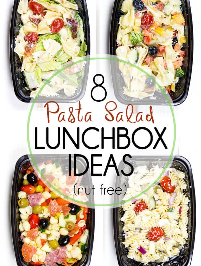 Pasta Salad Lunch Box Ideas (Nut Free)