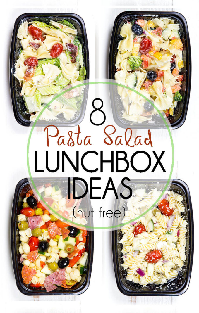 Pasta Salad Lunch Box Ideas (Nut Free) - Easy Peasy Meals