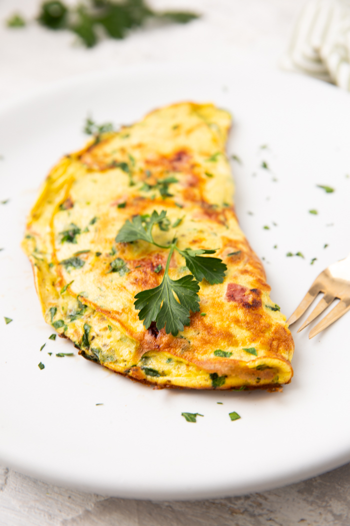 Ham and cheese omelette is low carb and keto