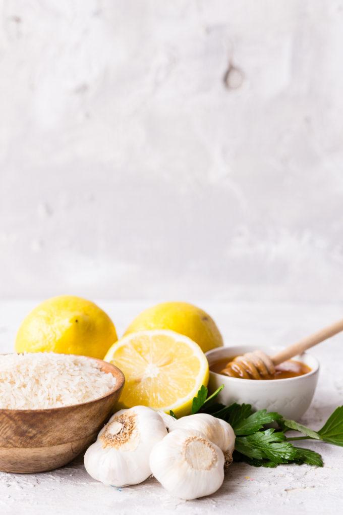 Simple ingredients for a skillet lemon chicken