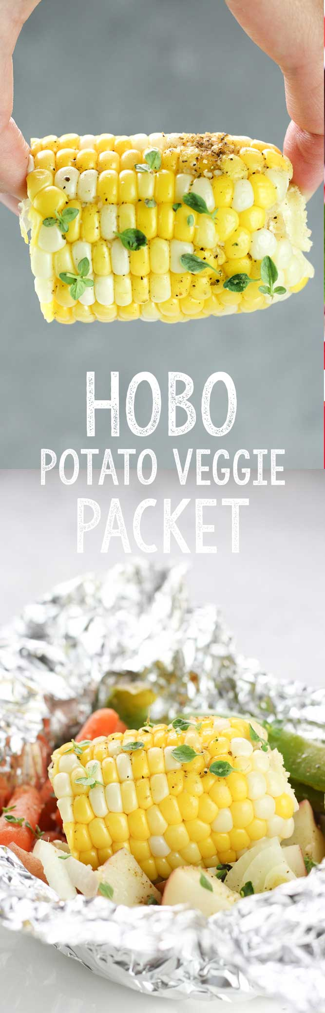 A hobo potato veggie packet is the perfect foil dinner or side dish!