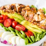 A delicious honey mustard chicken cobb salad