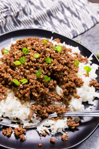 This instant pot Korean Beef is sweet and spicy and oh so flavorful