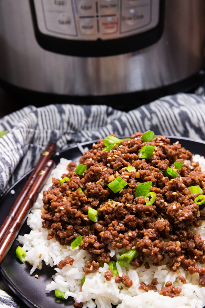 Easy instant pot (pressure cooker) Korean Beef recipe