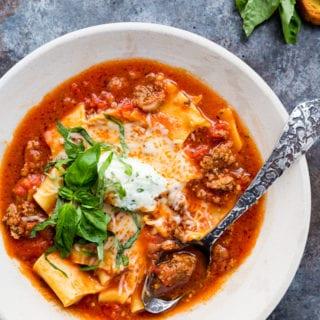 Easy Instant Pot Lasagna Soup
