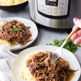 This tender and flavorful Mississippi Roast is the perfect quick dinner, cooking up in no time in the pressure cooker instant pot