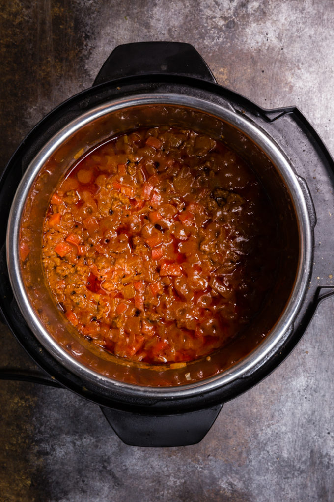 Instant Pot Sloppy Joe Mixture, cooked to perfection