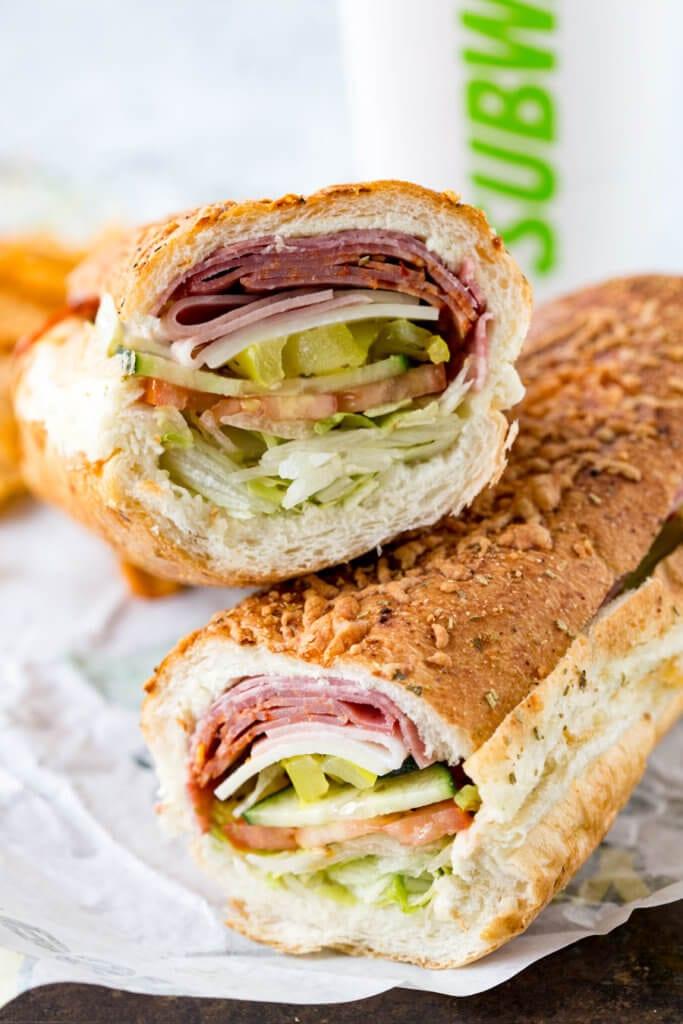 Italian Hero Sandwich from Subway