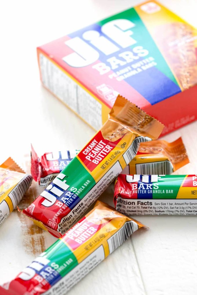 Easy peanut butter JIF bars