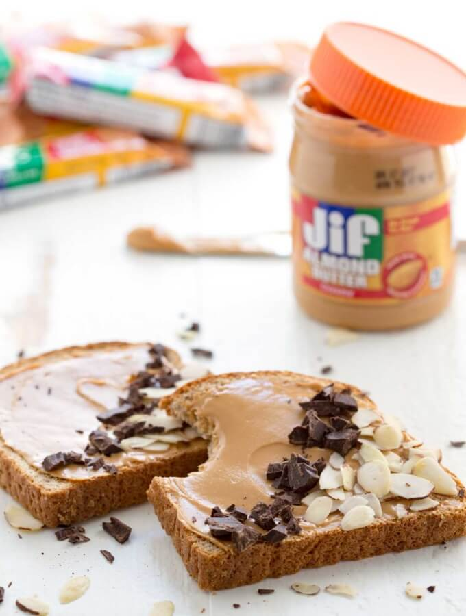 Quick Breakfast: Jif Spread Toast