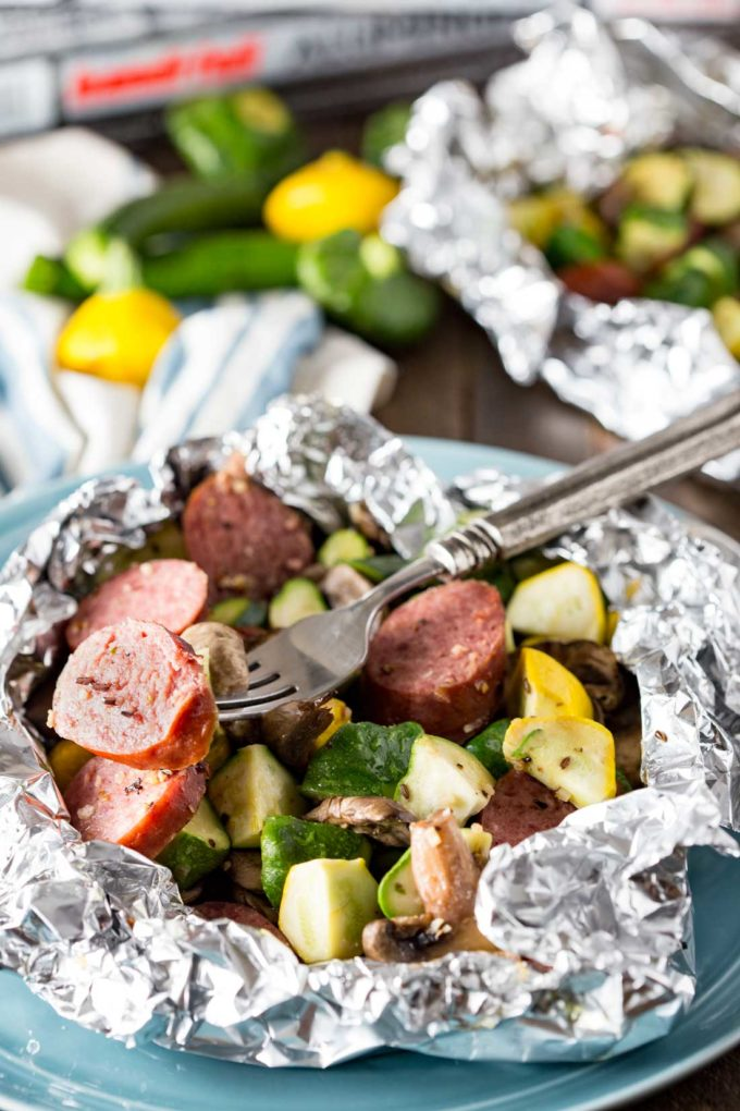 Kielbasa recipe for dinner cooked in foil