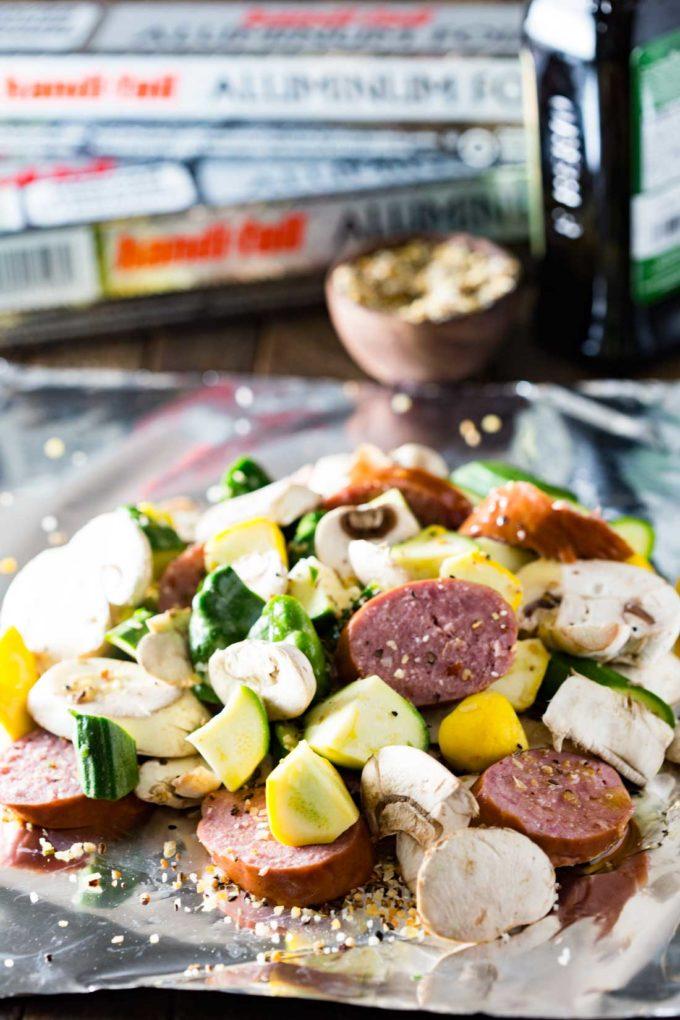 Keilbasa-grill-pouch-prep