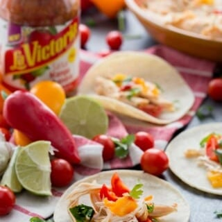 Easy Slow Cooker Mango Habanero Chicken Tacos