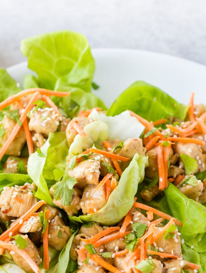 Lemon Chicken Lettuce Wraps