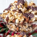 Caramel corn, popcorn moose munch with chocolate