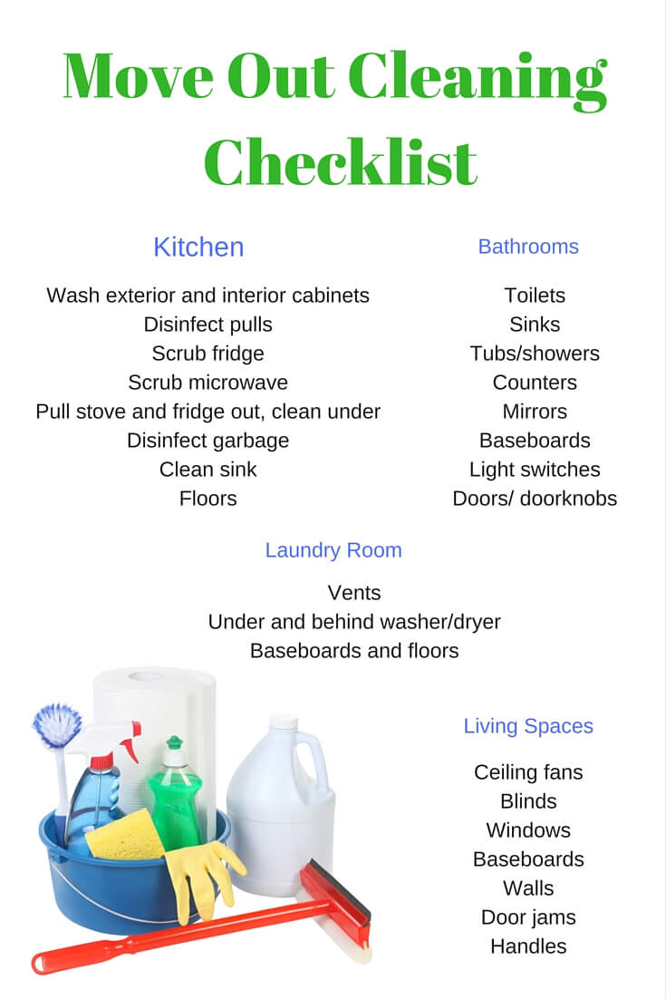 infographic moving out cleaning checklist angies list