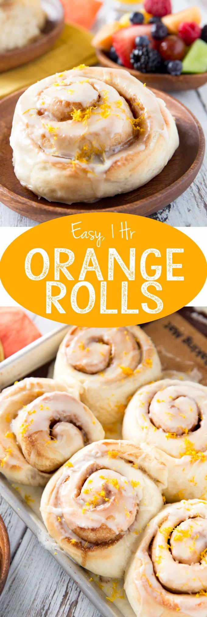 Sweet Orange Rolls with a delicious glaze. These disappear so fast at our house.