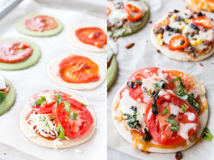 Margherita personal pizzas