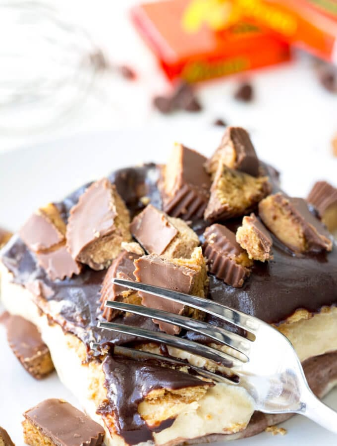 Easy Reese's Ice Box Cake
