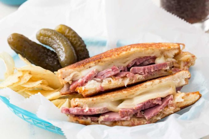 Reuben sandwich, a classic recipe with an updated reuben twist