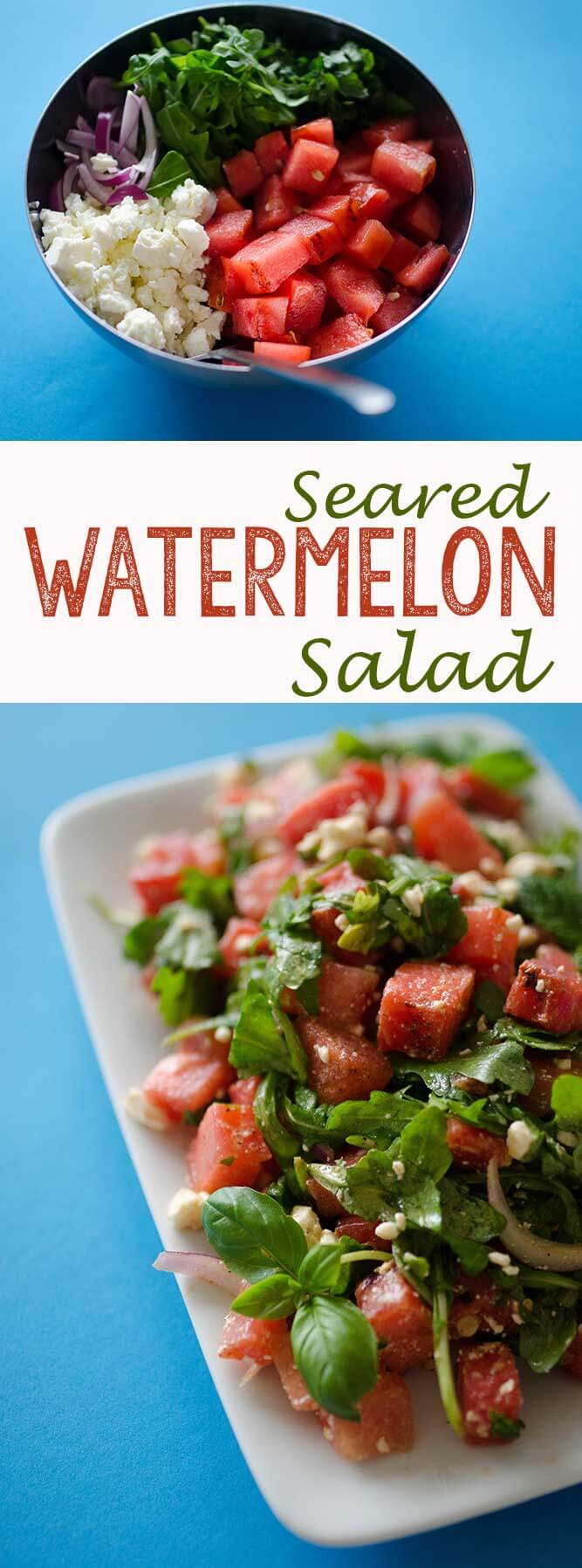 A seared watermelon salad is the perfect addition to your summer meal.