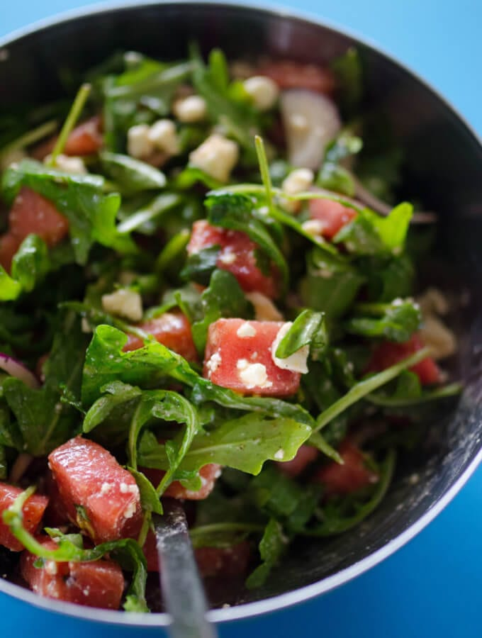 Seared Watermelon Salad