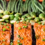 Super tasty and flavorful teriyaki salmon cooked on a single sheet pan