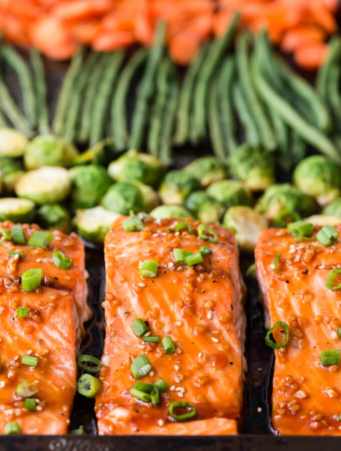 Sheet pan Teriyaki Salmon (Meal Prep)