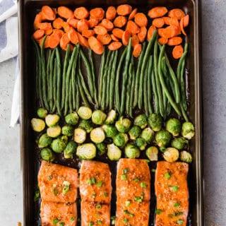 Sheet Pan Teriyaki Salmon Meal Prep