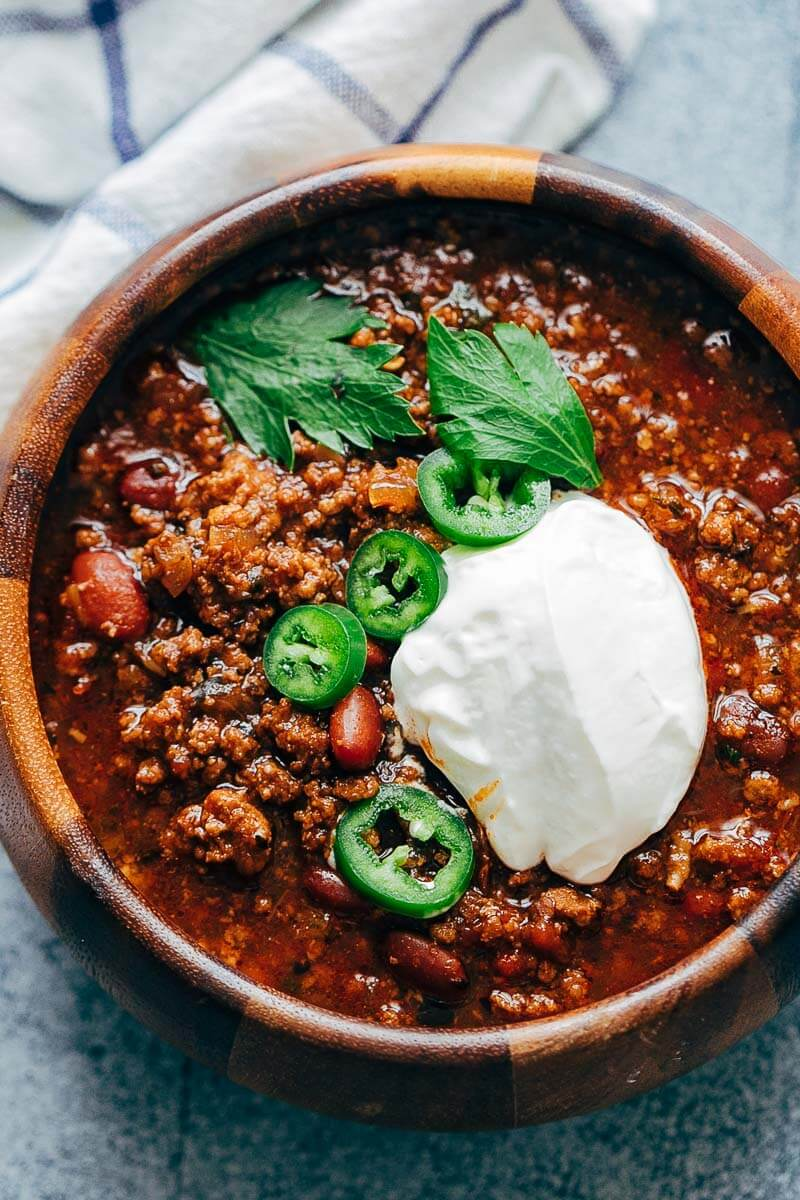 Slow Cooker Sweet Chili is a quick and easy slow cooker chili