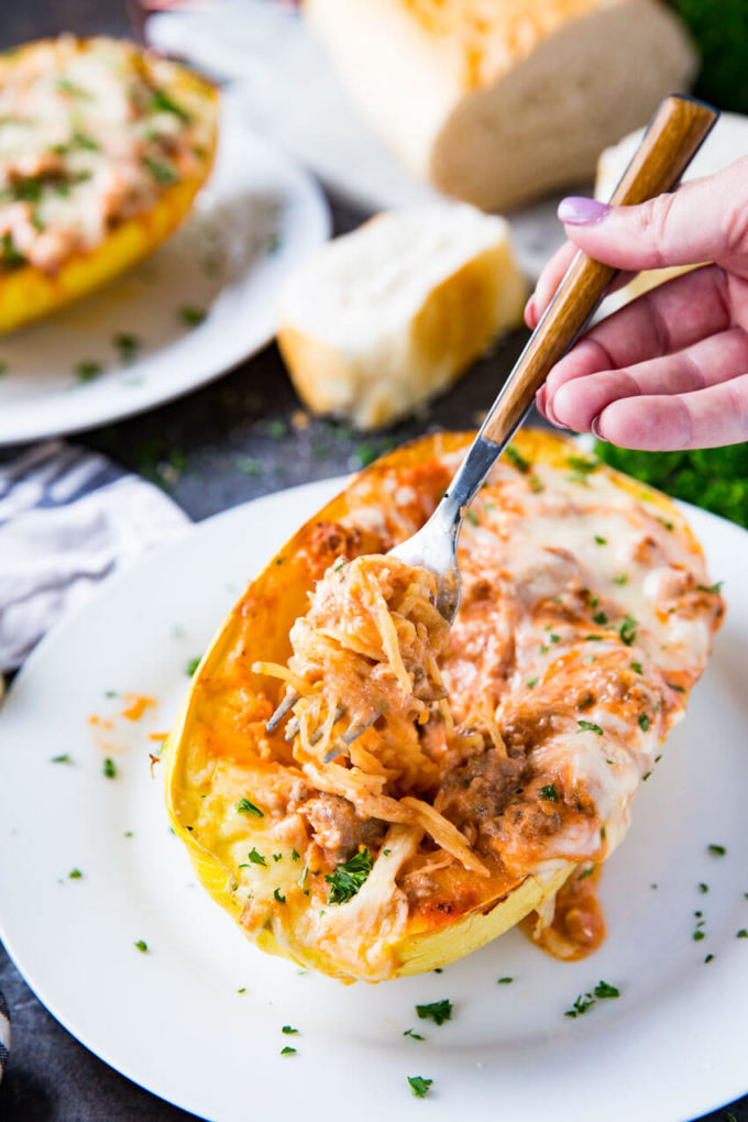 Spaghetti squash lasagna easy peasy meals for Things to do with spaghetti squash