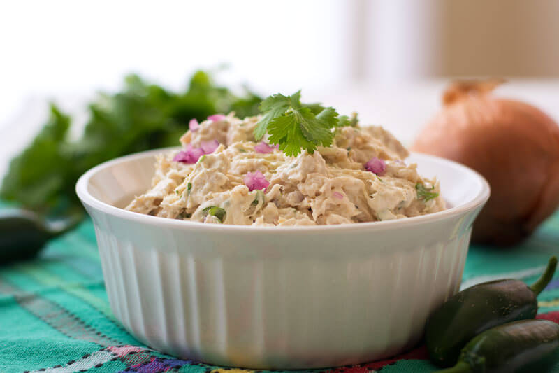 Easy Tex Mex Chicken Salad, spice up regular chicken salad, easy chicken salad dinner, easy appetizer