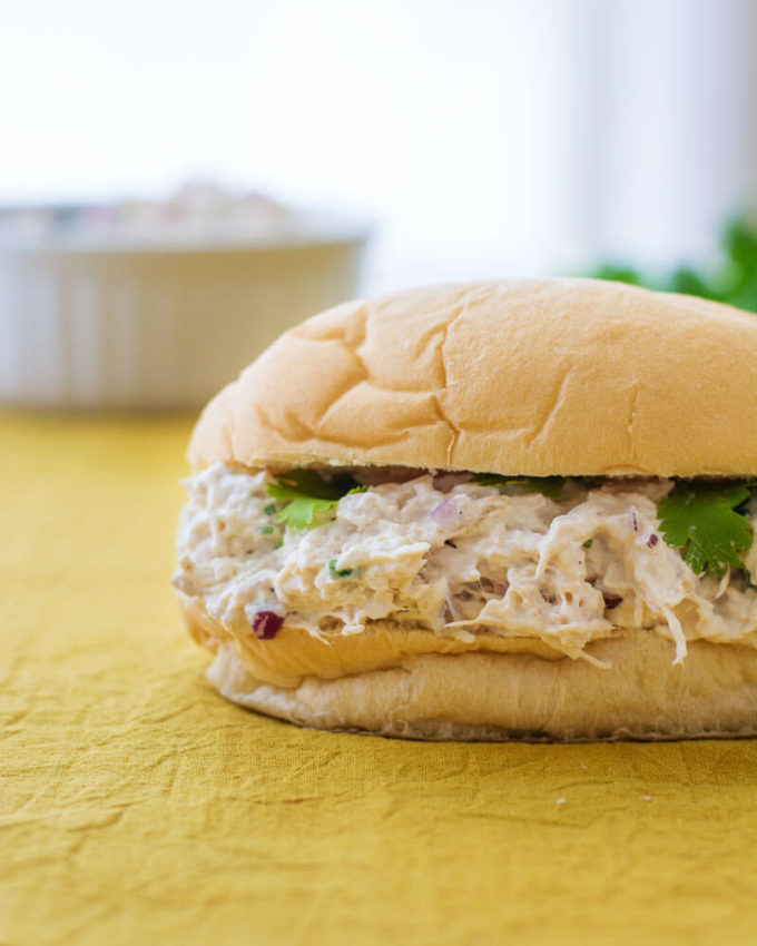 Tex Mex Chicken Salad, easy chicken salad sandwich