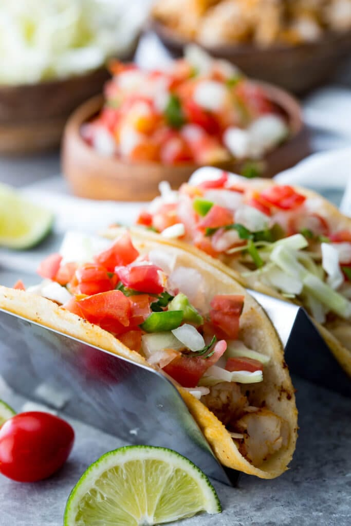 Tilapia Fish Tacos are mild, flaky, tender, and delicious