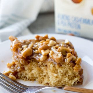 Caramel Cashew Cake is dairy and egg free and out so yummy!