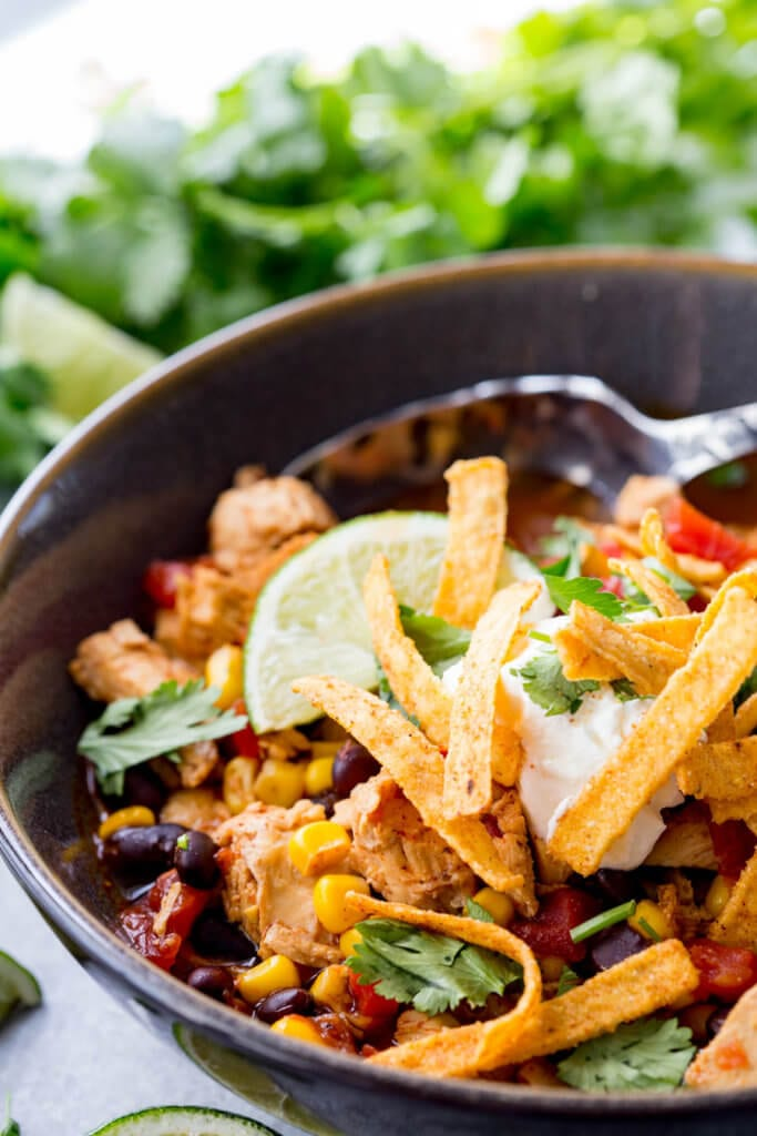 Crock pot chicken tortilla soup made easy