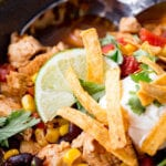 Easy slow cooker chicken tortilla soup