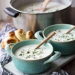 Clam chowder is creamy, chockfull of extras, and unbelievably good.