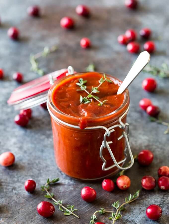 Easy Cranberry BBQ Sauce
