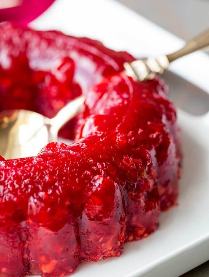Cranberry Jello Salad, the perfect Thanksgiving cranberry jello side