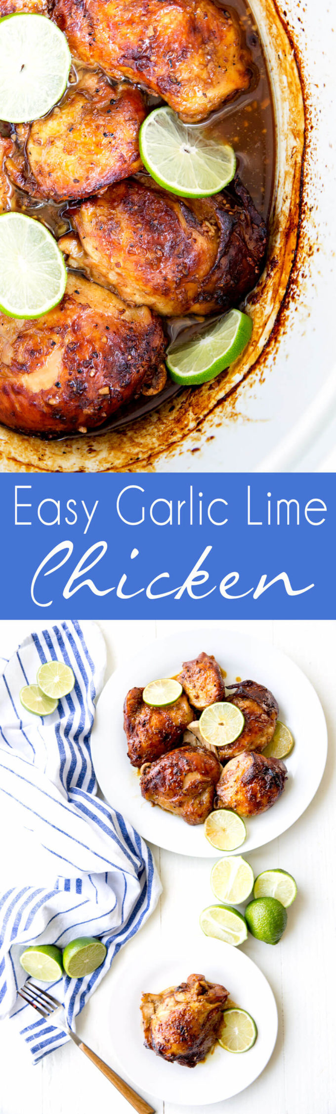 Crockpot Garlic Lime Chicken