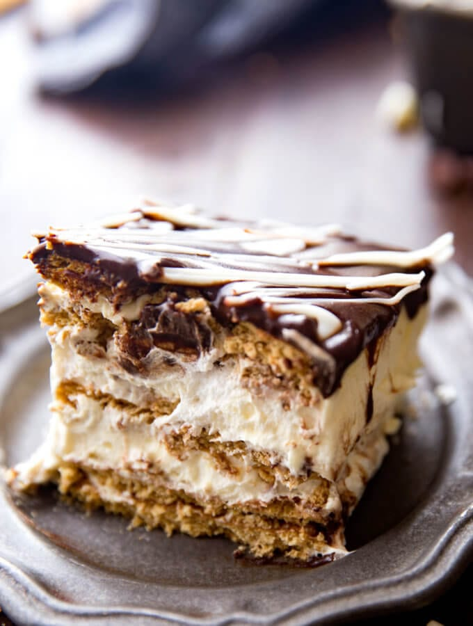 Layers of chocolate and eclair goodness.