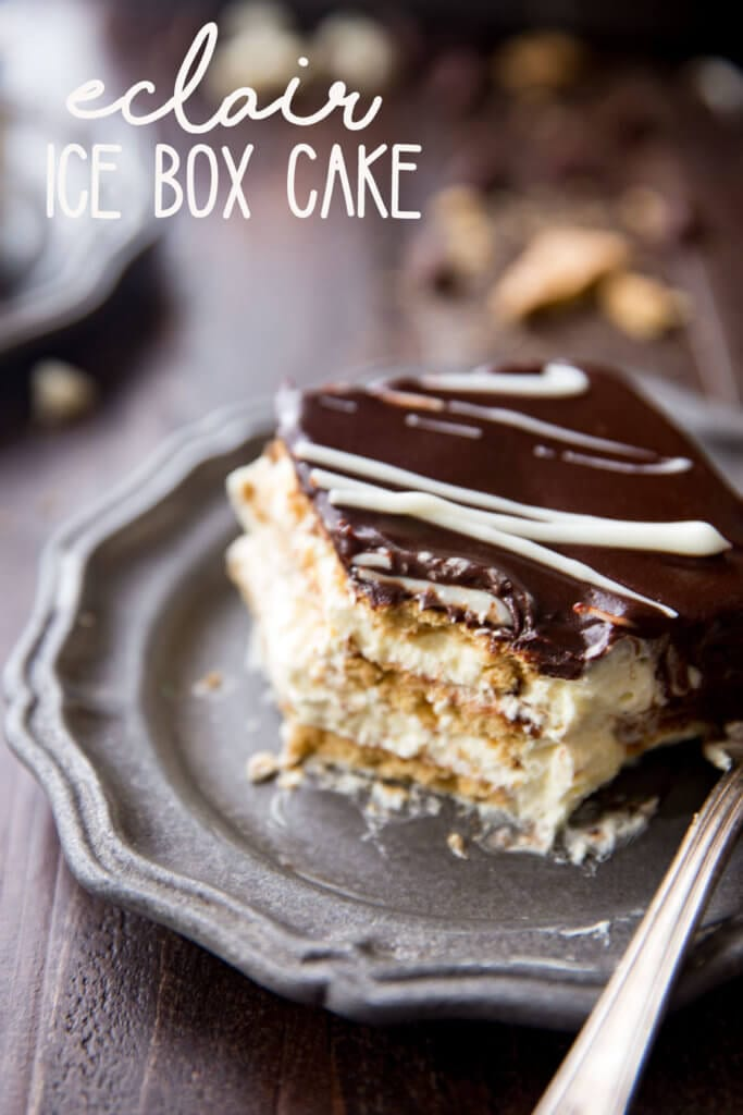 Eclair ice box cake is so easy to make