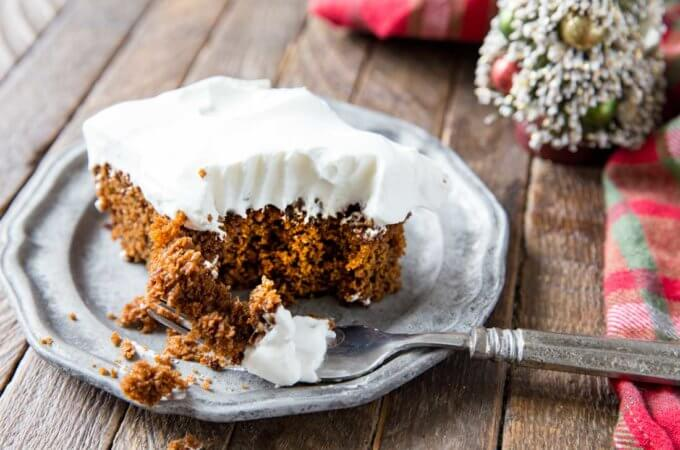 Spicy, sweet, and cozy gingerbread cake