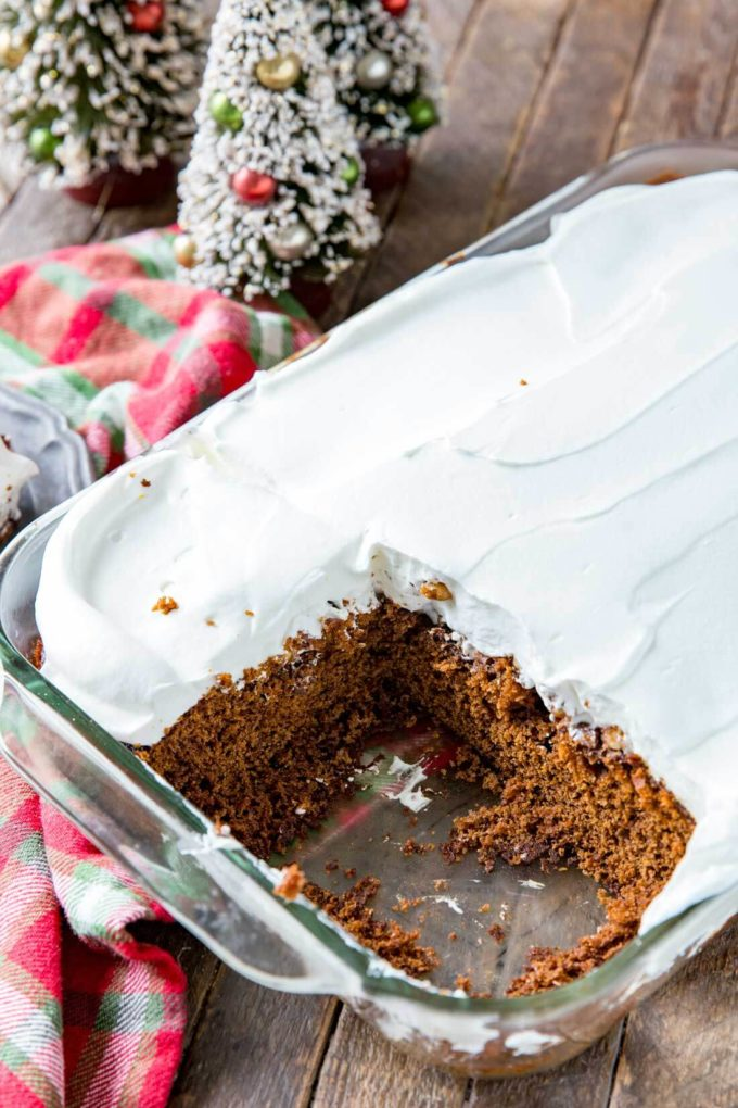 Gingerbread cake is a quick, easy, delicious holiday treat!